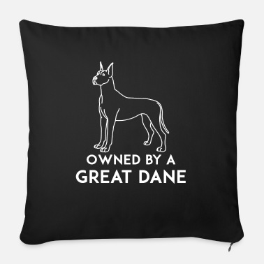 Great Dane Great dane - Owned by a great dane - Sofa pillow with filling 45cm x 45cm