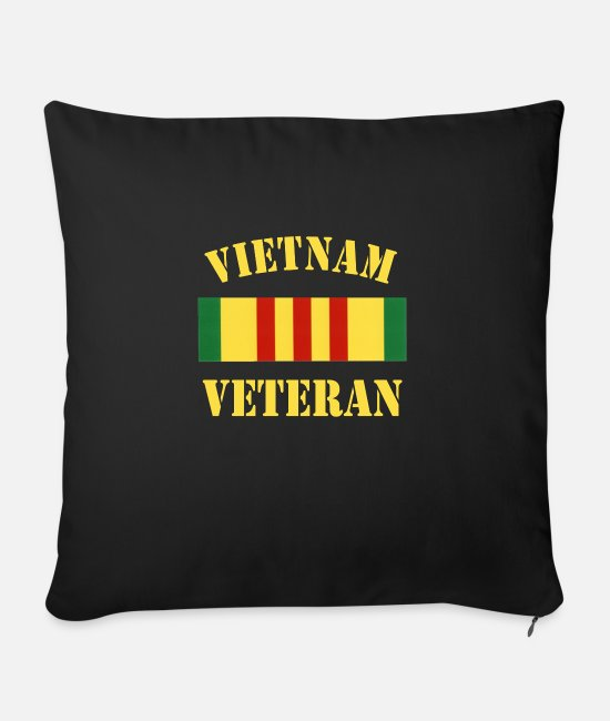 Veteran Pillow Cases - Vietnam Veteran - Vietnam Veteran - Sofa pillow with filling 45cm x 45cm black