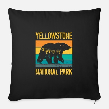 California Yellowstone National Park vintage bear - Sofa pillow with filling 45cm x 45cm
