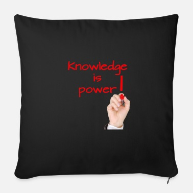 Knowledge Knowledge - Sofa pillow with filling 45cm x 45cm