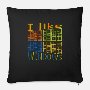 Windows J'aime de Windows - Coussin et housse de 45 x 45 cm