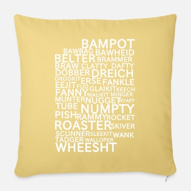 Scottish Scottish Slang/Insults - Sofa pillow with filling 45cm x 45cm