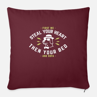 Heart First we steal your heart then your bed and sofa - Sofa pillow with filling 45cm x 45cm