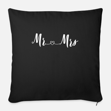 Mrs Mr Wifey mr_and_mrs_2_hearts - Sofa pillow with filling 45cm x 45cm