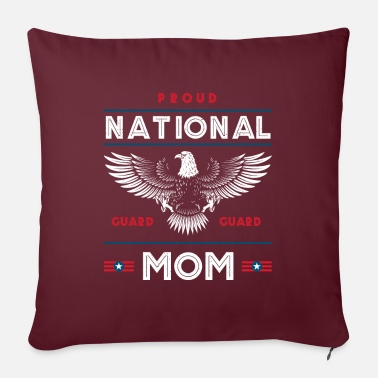 Family Holiday Proud National Guard Mom Memorial Day Gift - Sofa pillow with filling 45cm x 45cm