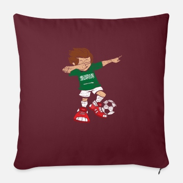 Saudi Arabia Football Dab Dabbing Jersey Gift - Sofa pillow with filling 45cm x 45cm