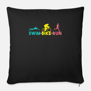 Swim Bike Run Swim Bike Run - Sofa pillow with filling 45cm x 45cm