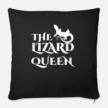Lizard Lizard - Lizards - Lizard owner - Queen - Sofa pillow with filling 45cm x 45cm
