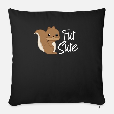 Squirrel Squirrel - squirrel fan - squirrel - Sofa pillow with filling 45cm x 45cm