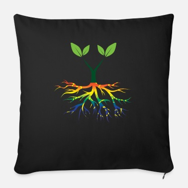 Nature Conservation Nature - Rainbow - Conservation - Roots - Sofa pillow with filling 45cm x 45cm