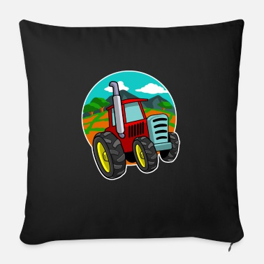 Manure Fork Tractor Farmer T-Shirt Gift Farmer Shirt - Sofa pillow with filling 45cm x 45cm