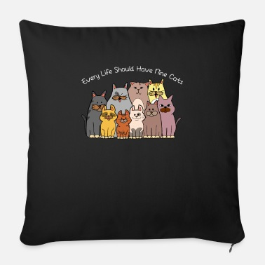 Every life beautiful cats love gift kittens - Sofa pillow with filling 45cm x 45cm