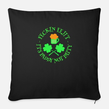 Feckin St Patrick's Day Feckin Eejit Beer and Shamrocks - Sofa pillow with filling 45cm x 45cm