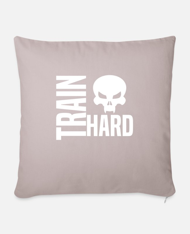Training Pillow Cases - training - Sofa pillow with filling 45cm x 45cm light taupe