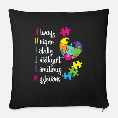 Asd Colorful Autism Awareness Gift Design for ASD - Sofa pillow with filling 45cm x 45cm
