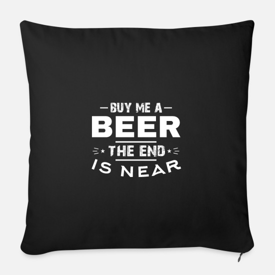 Addio Al Celibato Copricuscini - Acquista birra JGA World Sunset Funny Sayings - Cuscino da divano 44 x 44 cm con riempimento nero