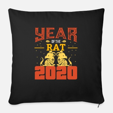 Rat The Chinese Year of the Rat - Rat - Rat - Sofa pillow with filling 45cm x 45cm