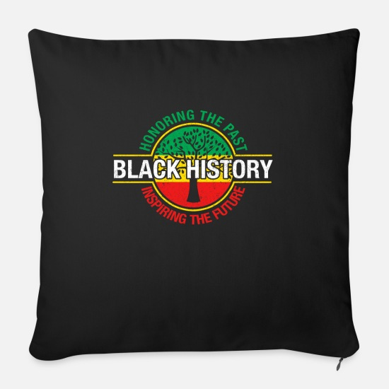 Gift Idea Pillow Cases - Black history - Sofa pillow with filling 45cm x 45cm black