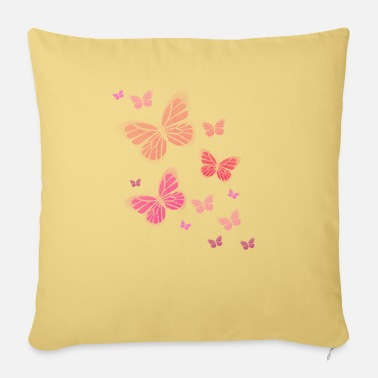 Butterflies Butterfly Butterfly Butterfly children - Sofa pillow with filling 45cm x 45cm
