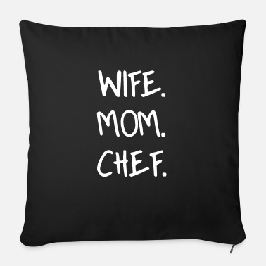 wifemomchefwhite - Sofa pillow with filling 45cm x 45cm