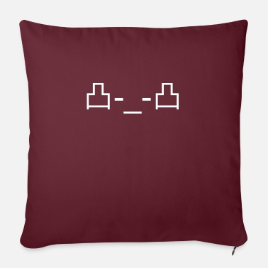 Emoticon middle finger sign icon 凸 -_- 凸 - Sofa pillow with filling 45cm x 45cm