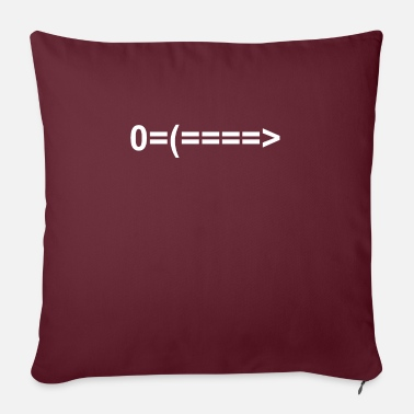 Emoticon sword sign icon o = (====> - Sofa pillow with filling 45cm x 45cm