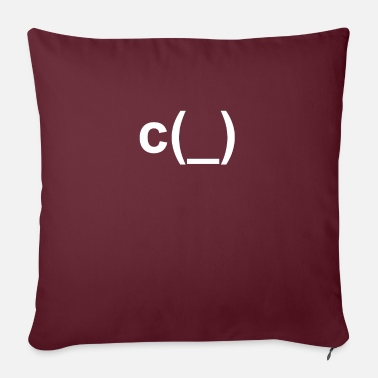 Emoticon cup sign picture icon c (_) - Sofa pillow with filling 45cm x 45cm