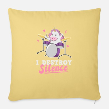 Unicorn Drummer unicorn drummer drummer - Sofa pillow with filling 45cm x 45cm