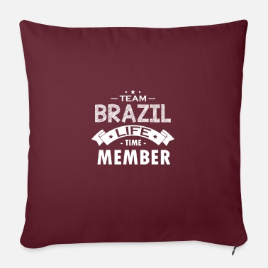 Shock Team Brazil Life Time Member - Sofa pillow with filling 45cm x 45cm