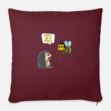 Hedgehog - Don't be a Prick Butterfly Cute - Zoo - Sofa pillow with filling 45cm x 45cm