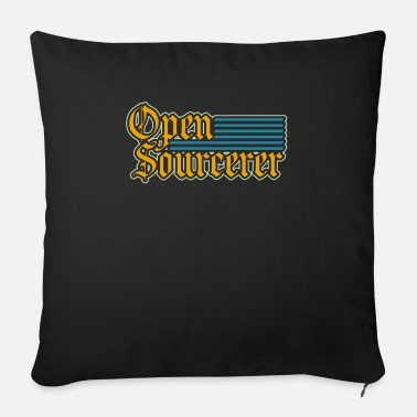 Open Sourcerer Open Sourcerer I Funny Programmer Programmming - Sofa pillow with filling 45cm x 45cm