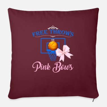 Free Throw Free Throws Pink Bows - Sofa pillow with filling 45cm x 45cm