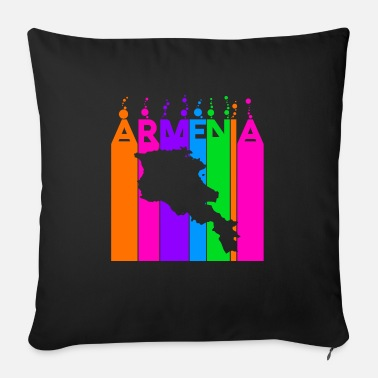 Nationality Armenia Colored bubbles and bubbles - Sofa pillow with filling 45cm x 45cm
