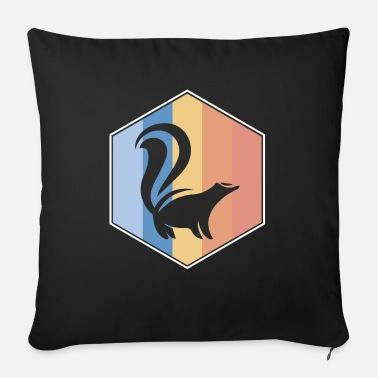 Skunk retro and vintage hexagon - Sofa pillow with filling 45cm x 45cm