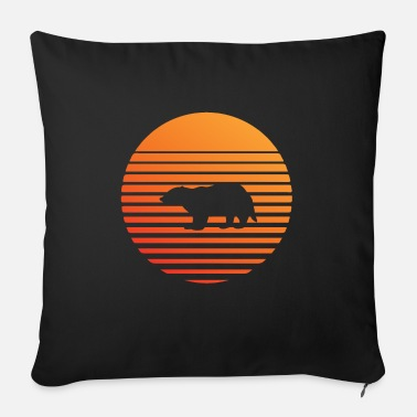Badger silhuette in the sunset - Sofa pillow with filling 45cm x 45cm
