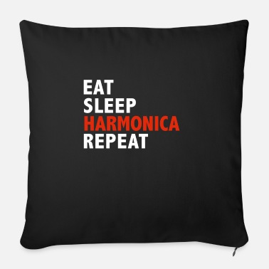 2018 Eat Sleep Harmonica Repeat Harmonica Player - Sofa pillow with filling 45cm x 45cm