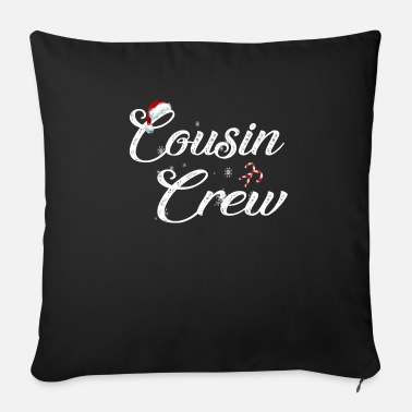 Santa Claus cousin crew family christmas matching - Sofa pillow with filling 45cm x 45cm