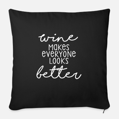 Alcoholism Wine love, wine tasting, drinking wine - Sofa pillow with filling 45cm x 45cm