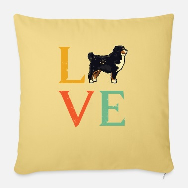 Dog Bernese Mountain Dog Shirt - Bernese Mountain Dog - Sofa pillow with filling 45cm x 45cm