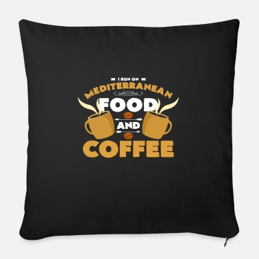 Olive Mediterranean cuisine and coffee - Sofa pillow with filling 45cm x 45cm