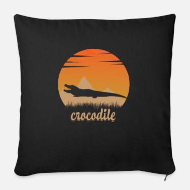 Crocodile in nature - Sofa pillow with filling 45cm x 45cm