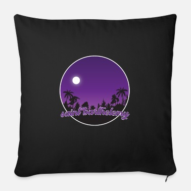St. Barthelemy's purple paradise - Sofa pillow with filling 45cm x 45cm