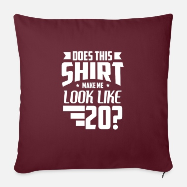 20th 20th birthday - Sofa pillow with filling 45cm x 45cm