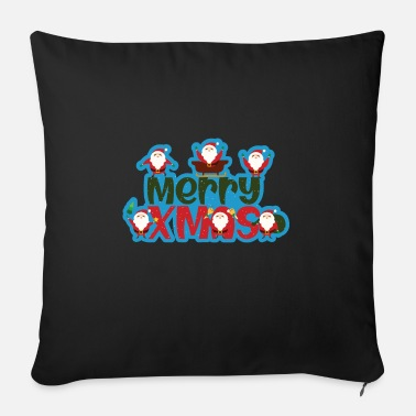 Bear Merry Christmas Santa Clauses - Sofa pillow with filling 45cm x 45cm