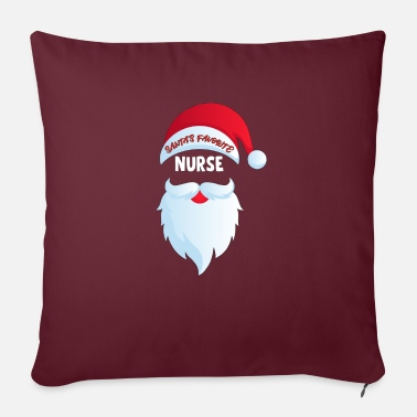 Favorite Nurse Santa's Favorite Nurse - Sofa pillow with filling 45cm x 45cm