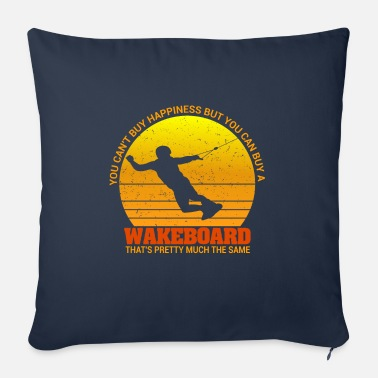 Kite Surfers You can t buy Happiness but can buy a wakeboard - Sofa pillow with filling 45cm x 45cm