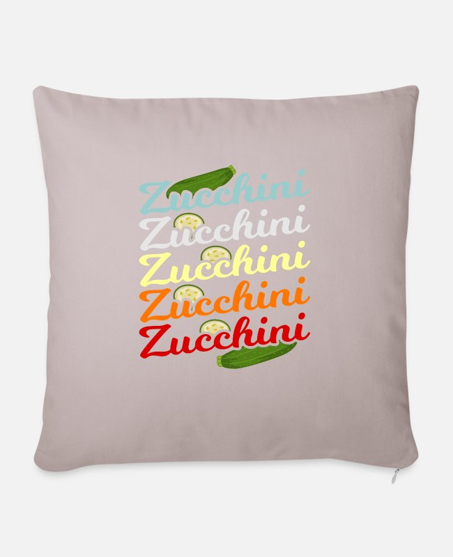 Zucchini Noodles Pillow Cases - Zucchini green plants gift idea - Sofa pillow with filling 45cm x 45cm light taupe