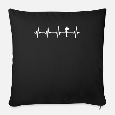 Skrzypce Violin Heartbeat White - Sofa pillow with filling 45cm x 45cm
