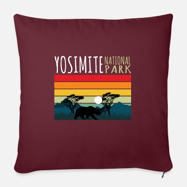 Helped Dome Nature Lover Yosimite National Park - Sofa pillow with filling 45cm x 45cm