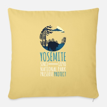 National Team Dark Moon Bear Lover Gift Yosemite Since 1890 - Sofa pillow with filling 45cm x 45cm